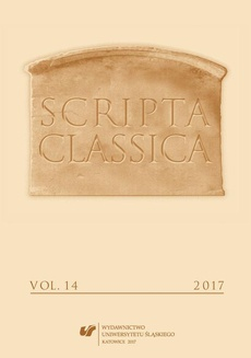 """""""Scripta Classica"""" 2017. Vol. 14 - 01 Plutarcha z Cheronei. Czy gorsze są namiętności duszy,czy choroby ciała..."""