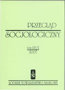 Przegląd Socjologiczny t. 56 z. 2/2007