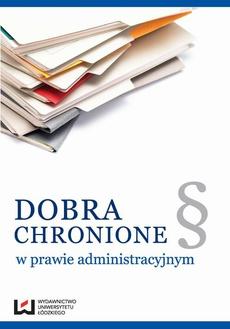 Dobra chronione w prawie administracyjnym