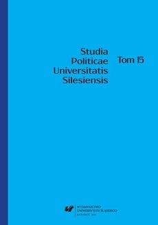 Studia Politicae Universitatis Silesiensis. T. 15 - 01 The regional and local party in light of the definition of a political party