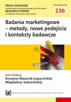 Badania marketingowe-metody, nowe podejścia i konteksty badawcze