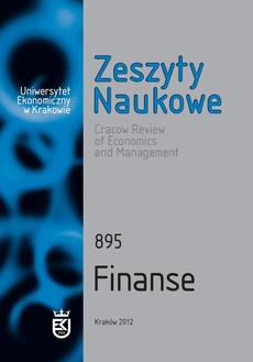 Zeszyty Naukowe Uniwersytetu Ekonomicznego w Krakowie, nr 895. Finanse