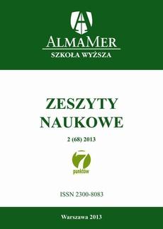 Zeszyty Naukowe ALMAMER 2013 2(68)
