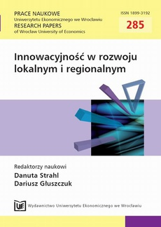 Innowacyjność w rozwoju lokalnym i regionalnym. PN 285