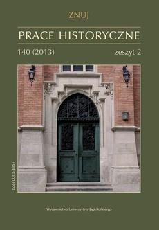 Prace Historyczne, 140 (2) 2013