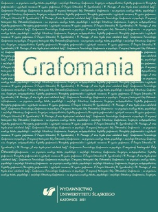 Grafomania - 01 Grafomania — na przecięciu analizy tekstu, psychologii i socjologii literatury