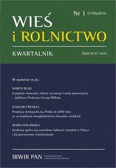 Wieś i Rolnictwo nr 1 (170)/2016