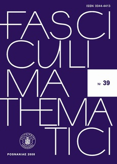 Fasciculi Mathematici 2008/39