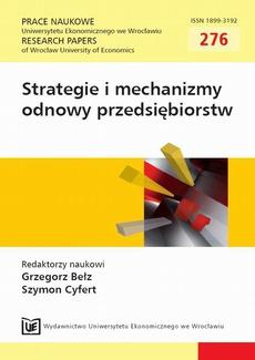Strategie i mechanizmy odnowy przedsiębiorstw. PN 276
