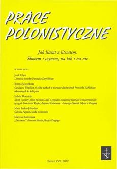 Prace Polonistyczne t. 67/2012