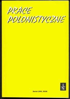 Prace Polonistyczne t. 63/2008