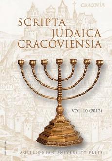 Scripta Judaica Cracoviensia, vol. 10