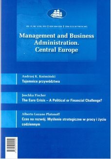 Management and Business Administration. Central Europe - 2013 - 1