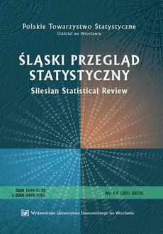 Śląski Przegląd Statystyczny 14(20) 2016