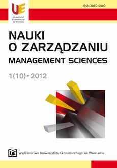 Nauki o Zarządzaniu. Management Sciences 1(10)
