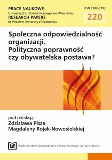 Społeczna odpowiedzialność organizacji. Polityczna poprawność czy obywatelska postawa?