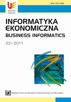 Informatyka Ekonomiczna 22 - 2011