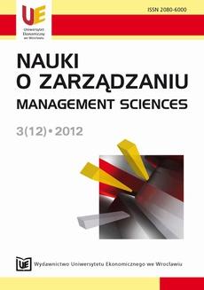 Nauki o Zarządzaniu 3(12)