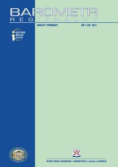 Barometr Regionalny. Analizy i Prognozy. Nr 1(23)