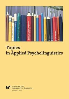 Topics in Applied Psycholinguistics