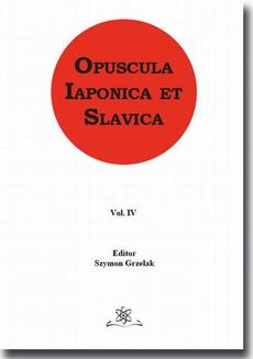 Opuscula Iaponica et Slavica Vol. 4