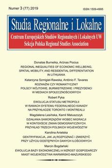 Studia Regionalne i Lokalne nr 3(77)/2019