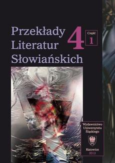 """Przekłady Literatur Słowiańskich. T. 4. Cz. 1: Stereotypy w przekładzie artystycznym - 04 Stereotyp mężczyzny w przekładzie """"Opowieści o mężczyznach"""" Miloša Crnjanskiego"""