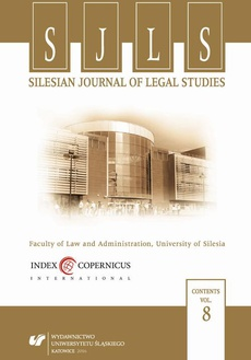 """Silesian Journal of Legal Studies"". Vol. 8 - 12 Reports"