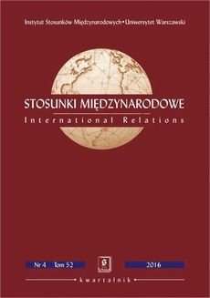 Stosunki Międzynarodowe nr 4(52)/2016 - Paula Marcinkowska: The Scope of Influence of the Central and Eastern European Member States of the EU on Shaping the EU's Policy towards Russia – The Case of the Visegrad Countries