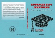 EDUKACJA ELIT XXI WIEKU Kompetencyjne pojęcie elit społecznych