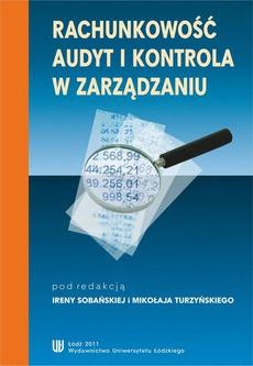 Rachunkowość, audyt i kontrola w zarządzaniu
