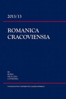Romanica Cracoviensia 2013/13