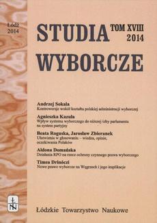 Studia Wyborcze t. 18