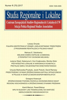 Studia Regionalne i Lokalne nr 4(70)/2017