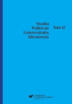 Studia Politicae Universitatis Silesiensis. T. 12 - 01 Teoretyczna i metodologiczna koncepcja szkoły chicagowskiej w nauce o polityce