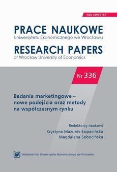 Badania marketingowe – nowe podejścia oraz metody na współczesnym rynku. PN 336