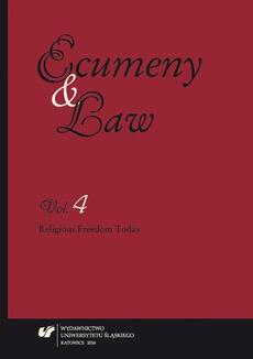 """""""Ecumeny and Law"""" 2016. Vol. 4 - rec 2_Józef Budniak"""