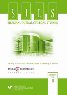 """""""Silesian Journal of Legal Studies"""". Vol. 9 - 02 Using a Provision's Legislative History as an Instrument for Interpretation – Several Observations Based on Judgments of Polish Administrative Courts"""