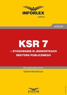 KSR 7 – stosowanie w jednostkach sektora publicznego