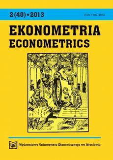 Ekonometria 2(40) 2013