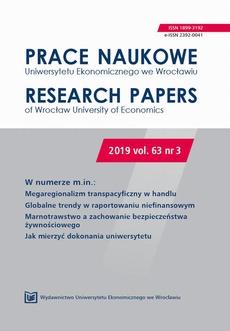 Prace Naukowe Uniwersytetu Ekonomicznego we Wrocławiu 63/3. Megaregionalizm transpacyficzny w handlu