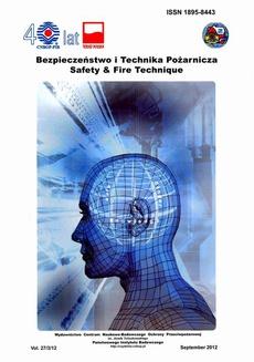 Bezpieczeństwo i Technika Pożarnicza, Vol.27/3/2012