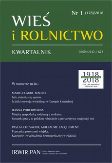 Wieś i Rolnictwo nr 1/2018 - Sylwia Michalska, Ruta Śpiewak: Jubileusz Profesor Marii Halamskiej