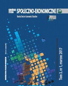 Konińskie Studia Społeczno-Ekonomiczne Tom 3 Nr 1 2017