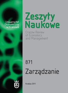 Zeszyty Naukowe Uniwersytetu Ekonomicznego w Krakowie, nr 871. Zarządzanie