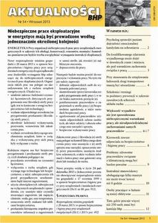 Aktualności bhp wrzesień 2013 nr 54