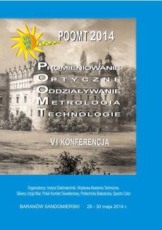 POOMT 2014 Promieniowanie optyczne, oddziaływanie, metrologia, technologie