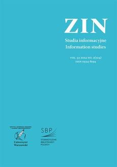 Zagadnienia Informacji Naukowej Vol. 52 2014 no. 2(104)
