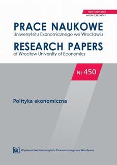 Prace Naukowe Uniwersytetu Ekonomicznego we Wrocławiu nr 450. Polityka ekonomiczna