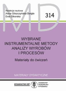Wybrane instrumentalne metody analizy wyrobów i procesów